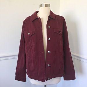 Denim & Company Maroon Stretchy Jacket